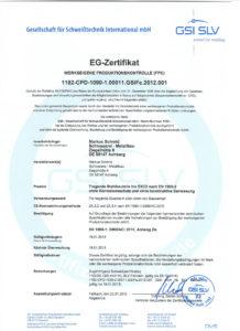Schweiss-Zertifikat-EG